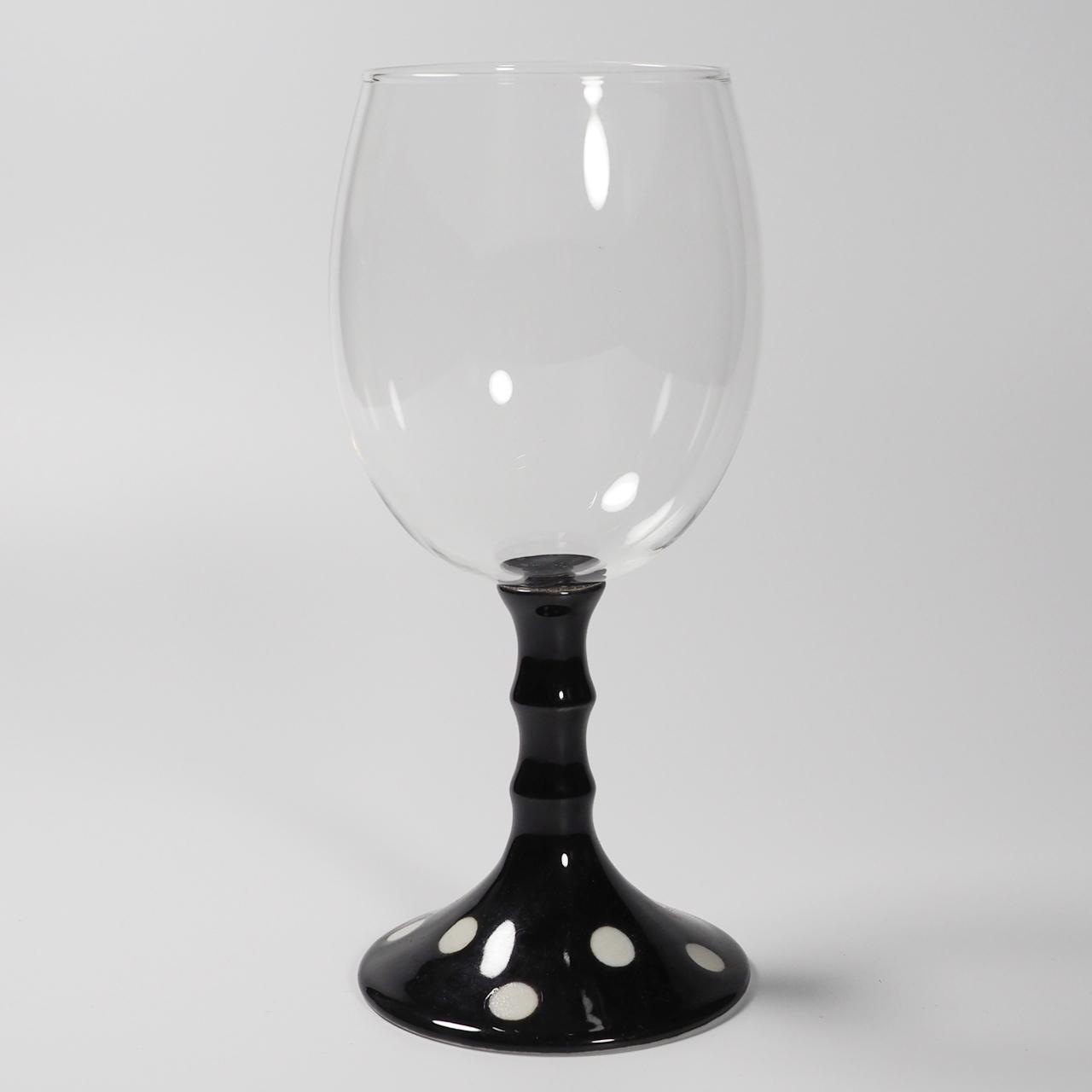 ワイングラス (水玉黒) 20-209