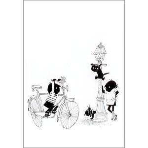 ポストカード 自転車でおでかけ(FO_PO_10098)