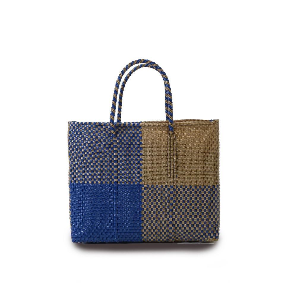 MERCADO BAG BLOKS  -  Navy x Gold (XS)