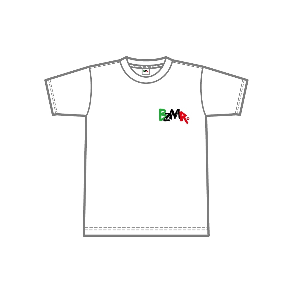 BZMR [One point color tee] White. - 画像1