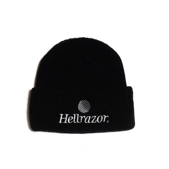 【HELLRAZOR】Trademark Logo Watch Cap - Black