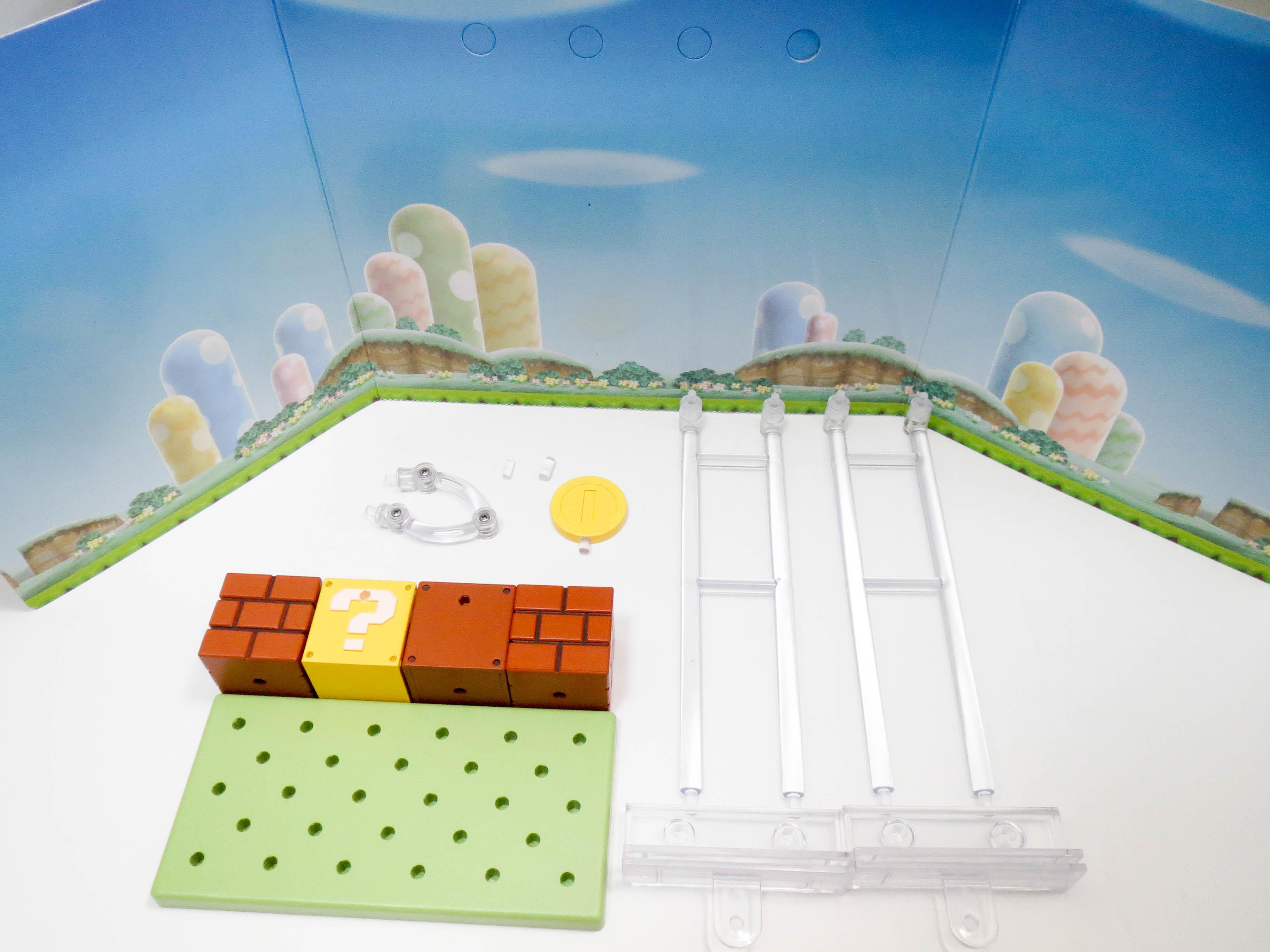 【SALE】【473】 マリオ 小物パーツ ブロックとコインと台座(再販版) ねんどろいど