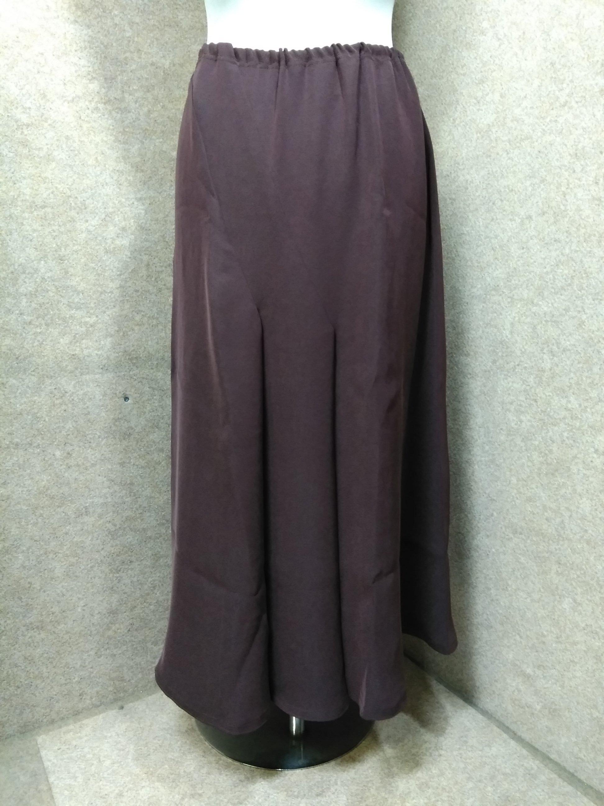 伊太利屋 ロングスカート 11 ワインレッド my847e