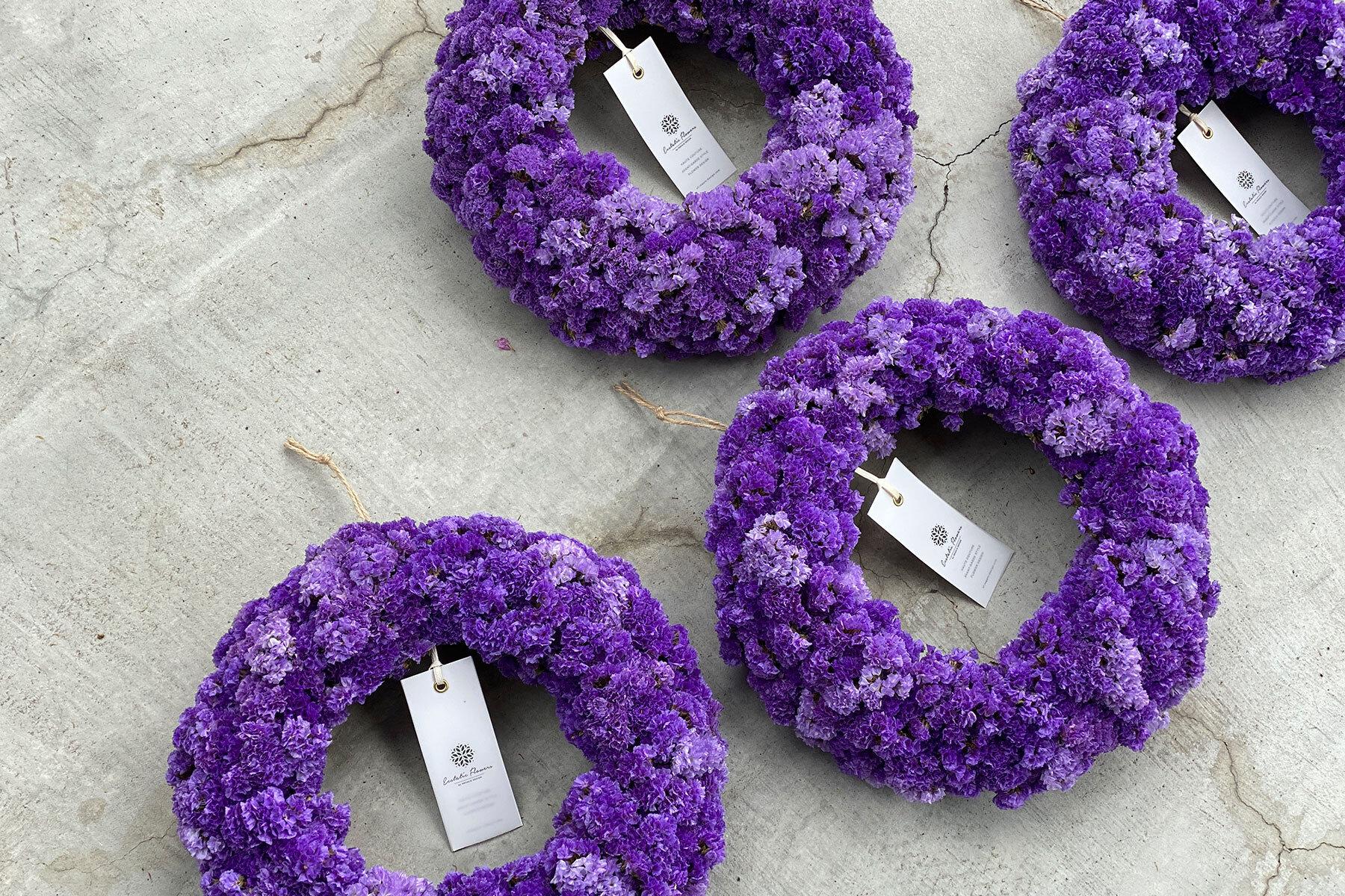 Statice Wreath Violet 07   スターチスリース