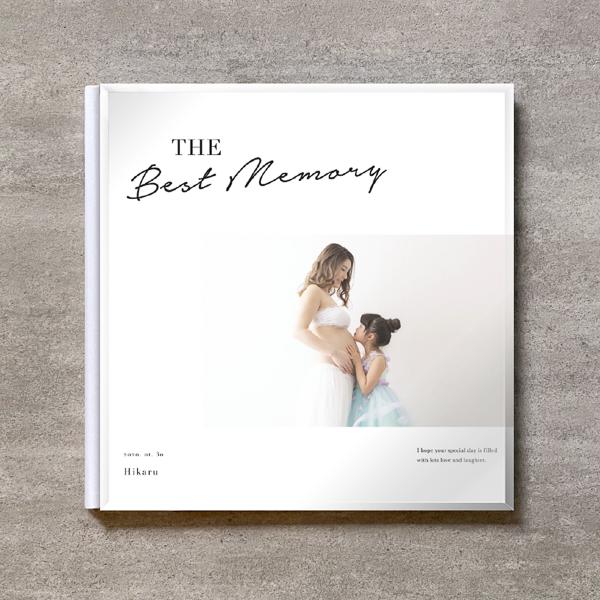 Simple white-MATERNITY_A4スクエア_10ページ/20カット_クラシックアルバム(アクリルカバー)