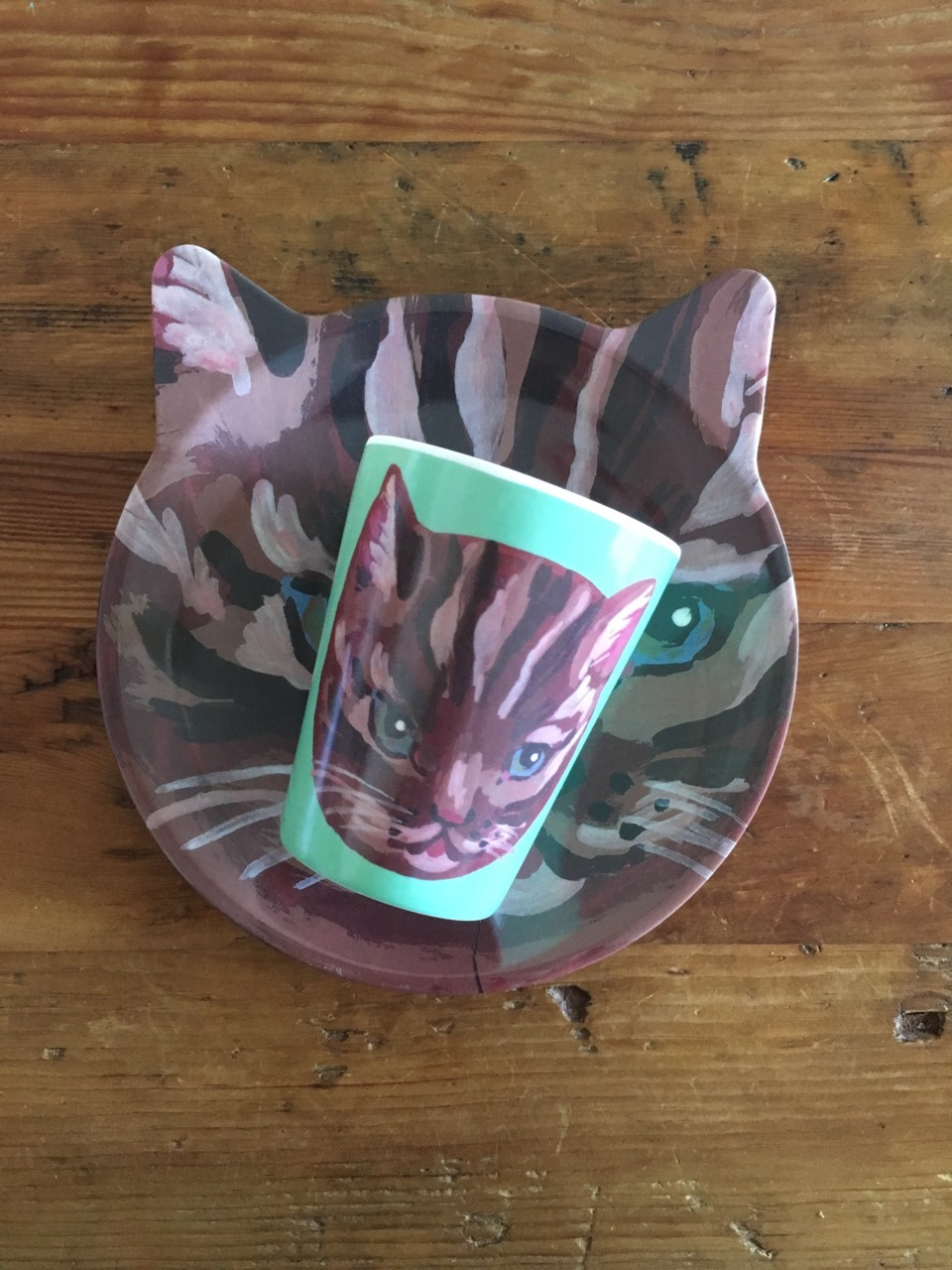 Nathalie Lete cat plate & cup set