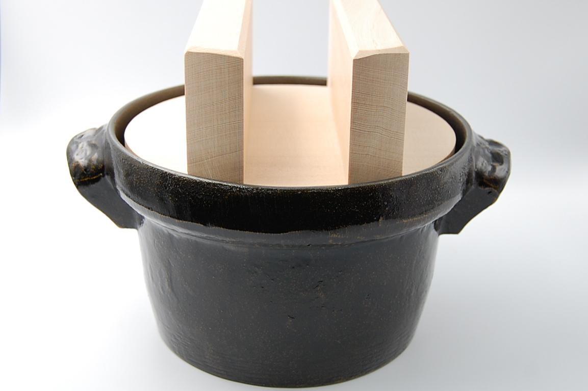 ◆受注生産◆  アルミ合金3合ごはん鍋(白木木蓋)