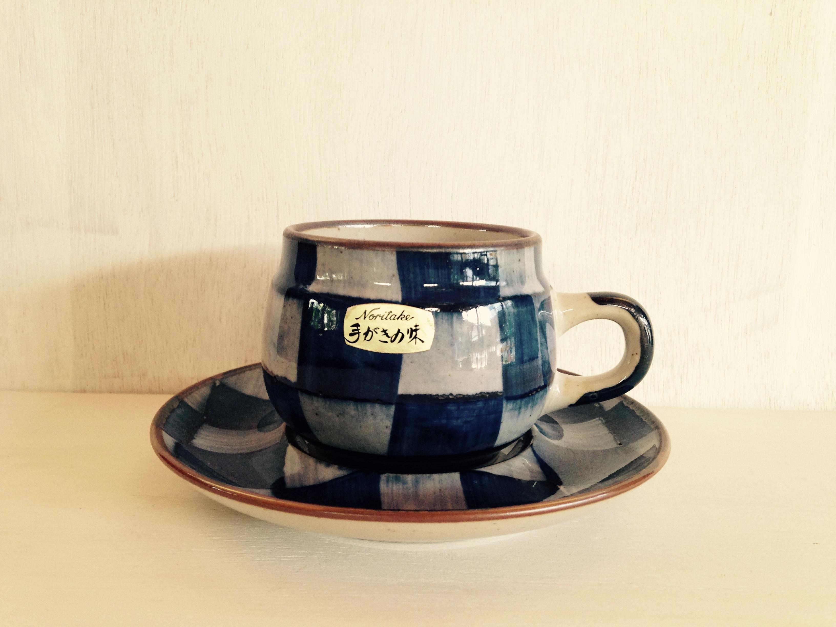 コーヒーカップ Noritake(ノリタケ)アンティークストーン