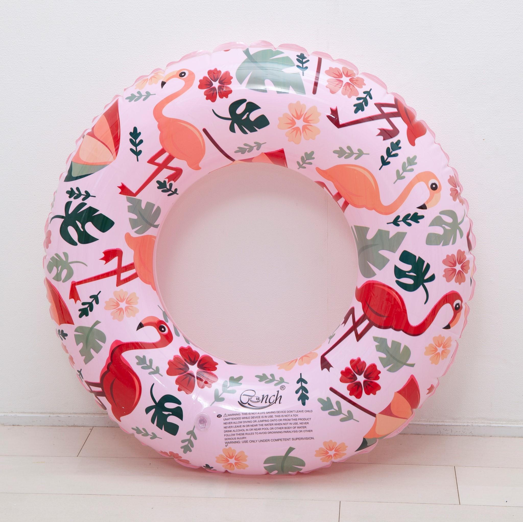 フラミンゴ柄浮き輪☆ピンク・グリーン
