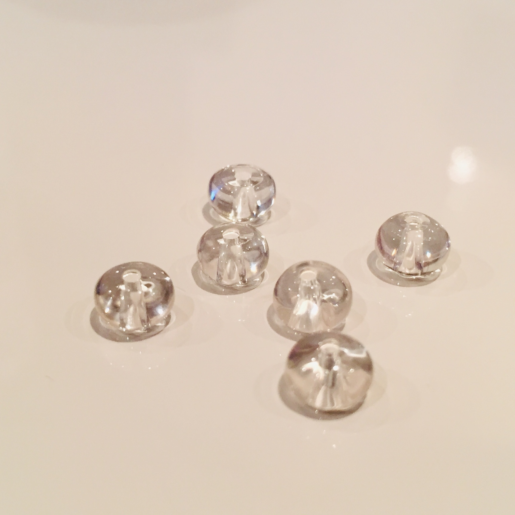 浄化の石 水晶 4×6mm玉  6個セット