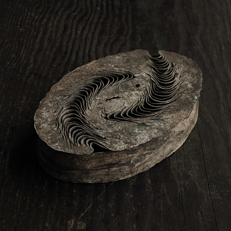 積層蓋物 楕円 izumita yukiya