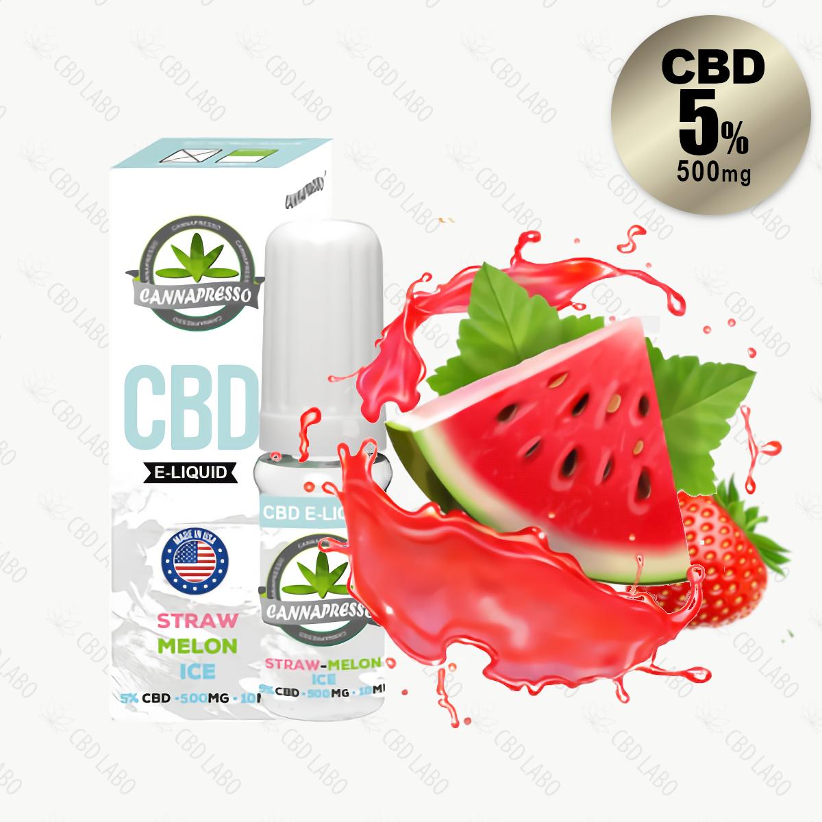 【送料無料】CANNAPRESSO CBDリキッド ストローメロンアイス 10ml CBD含有量500mg (5%)