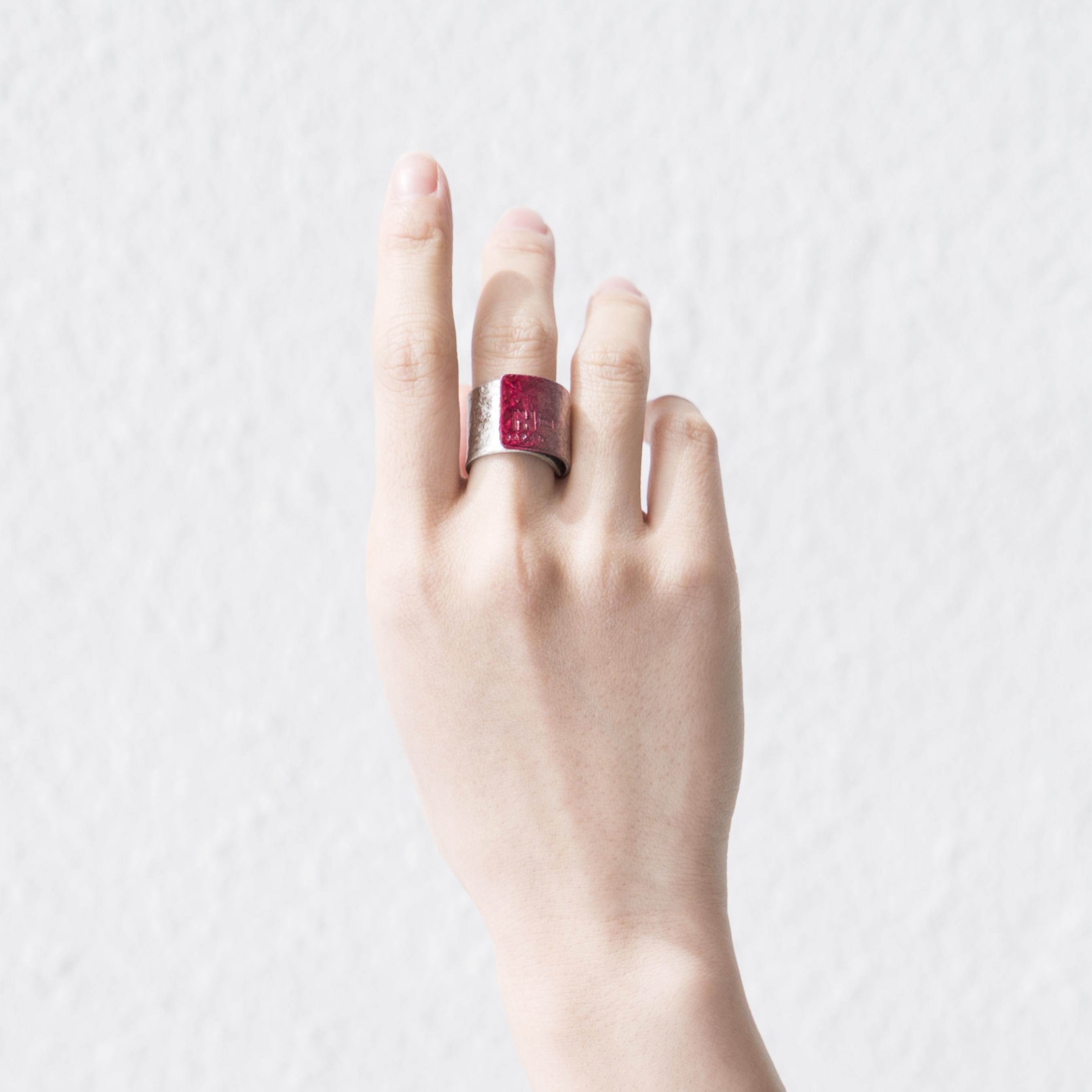 《オンライン・店舗限定》TIN BREATH SCARLET Ring 15×80㎜