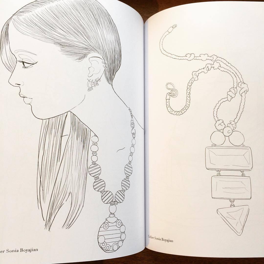 マリー・ペロン 塗り絵イラスト集「My fashion coloriages/Marie Perron」 - 画像3