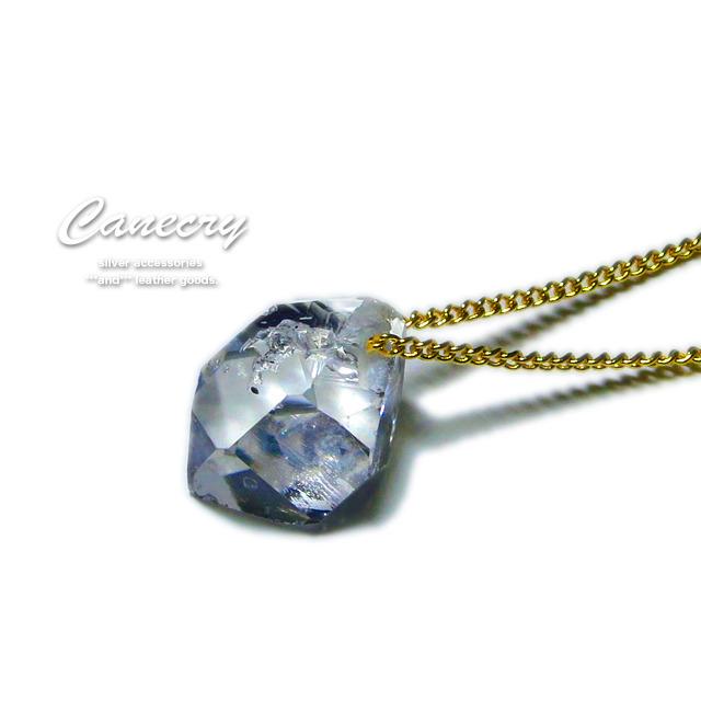 ハーキマー ダイヤモンドの原石ネックレス