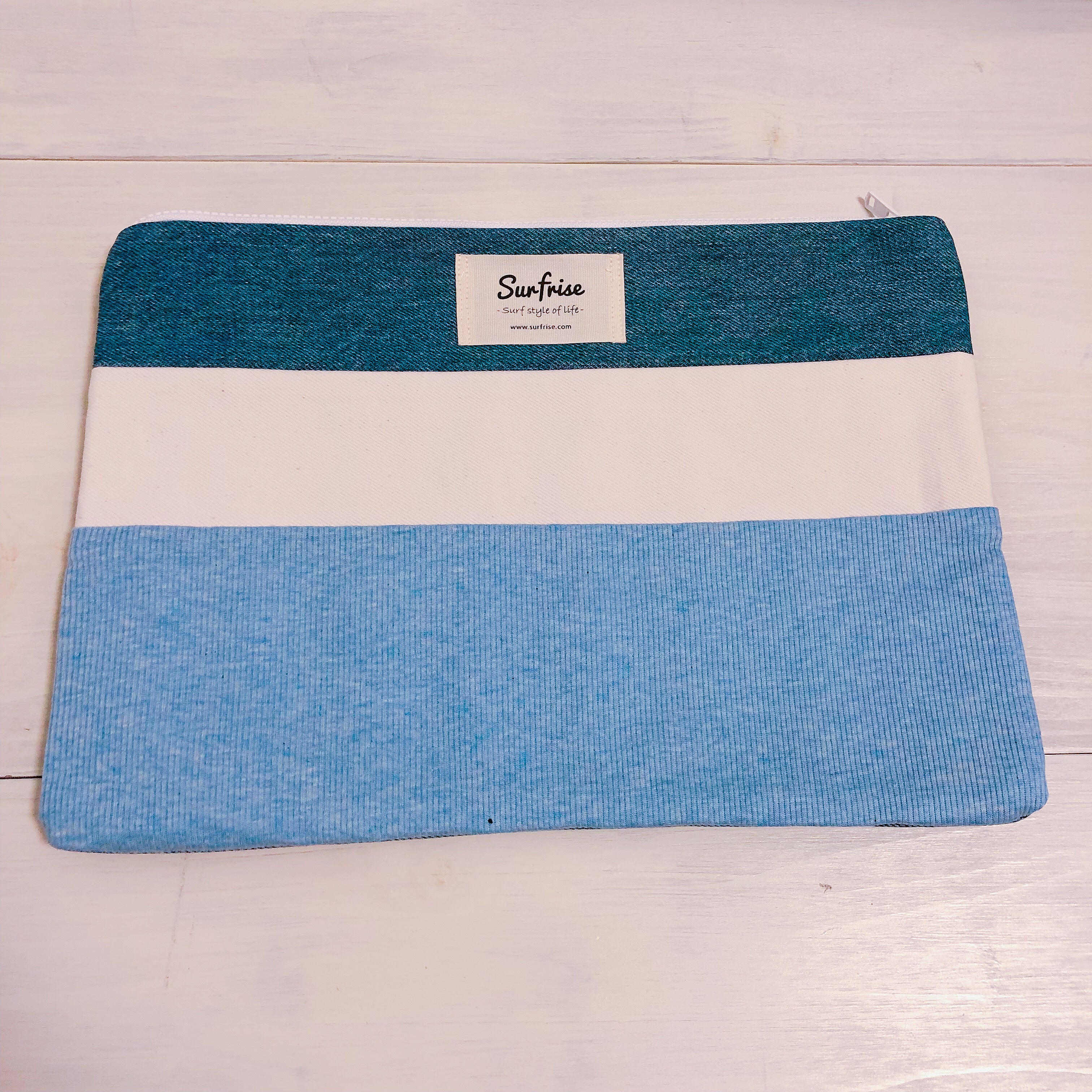 Denim clutch bag R37(Light Blue)