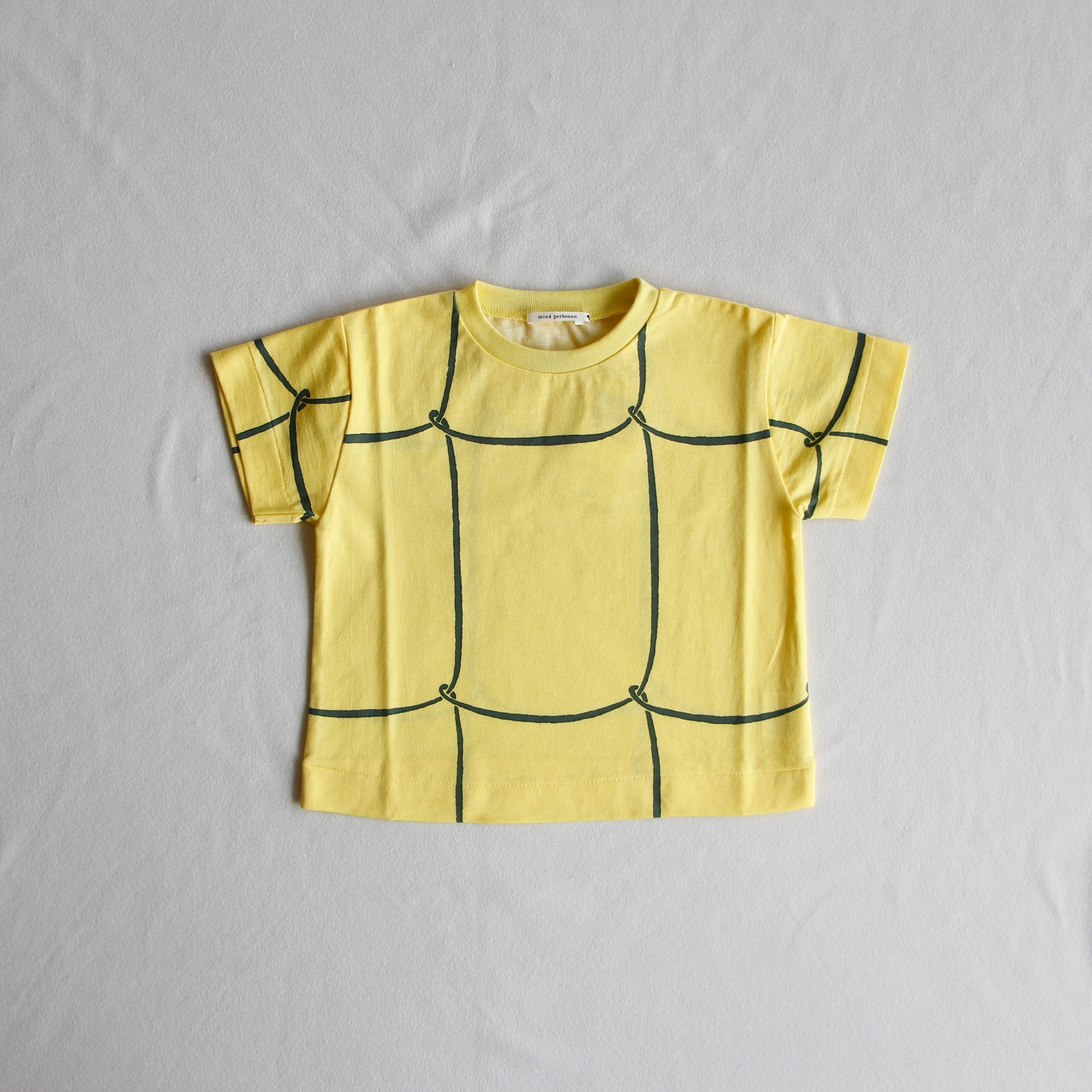 《mina perhonen 2018SS》ribbon frame Tシャツ / yellow / 80-100cm