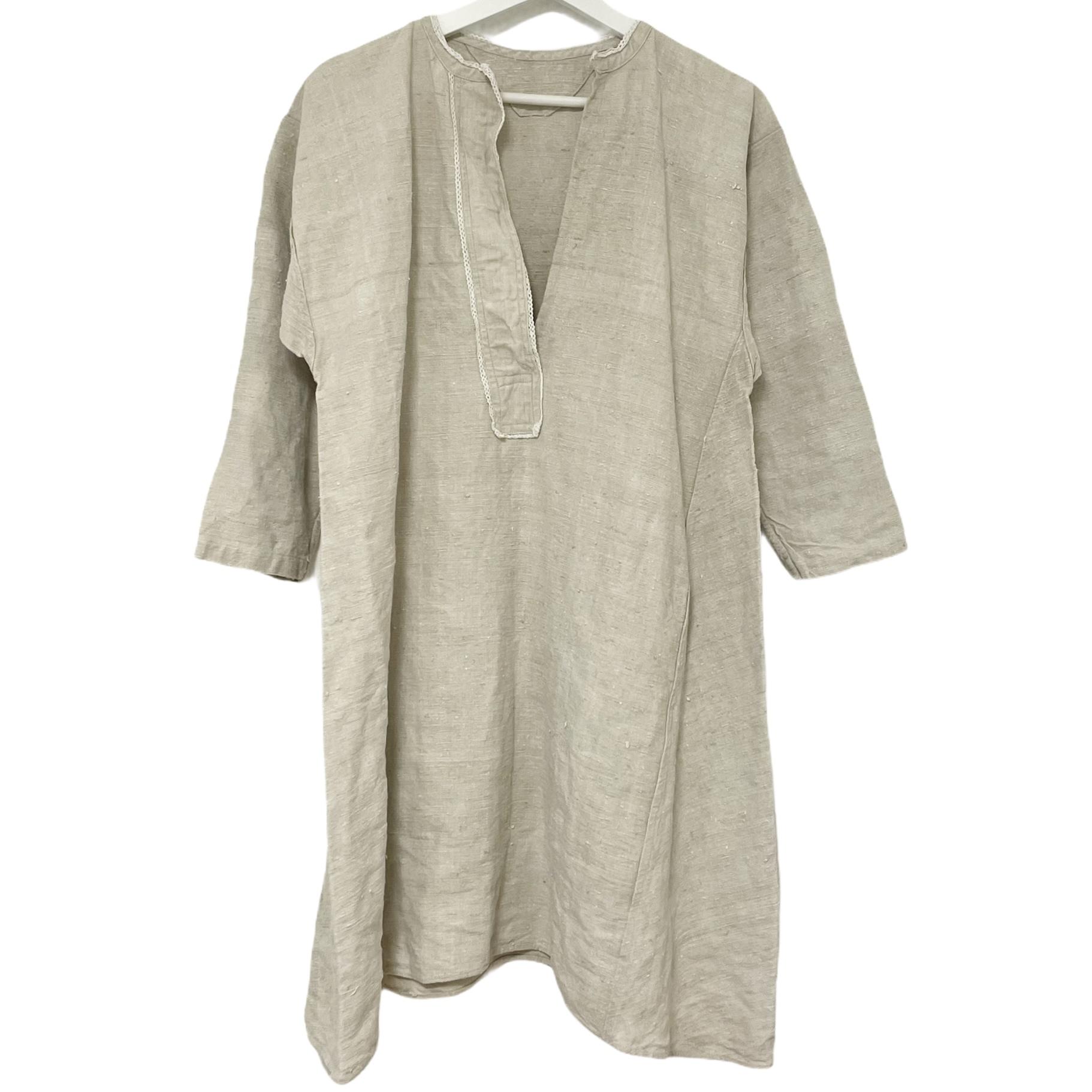 4 French Antique  Linen Shirt