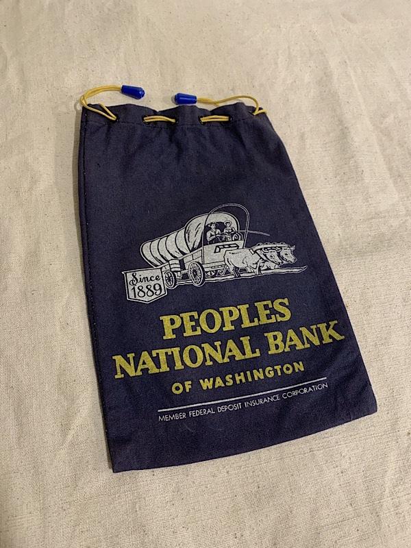 """BANK BAG """"PEOPLES NATIONAL BANK"""""""