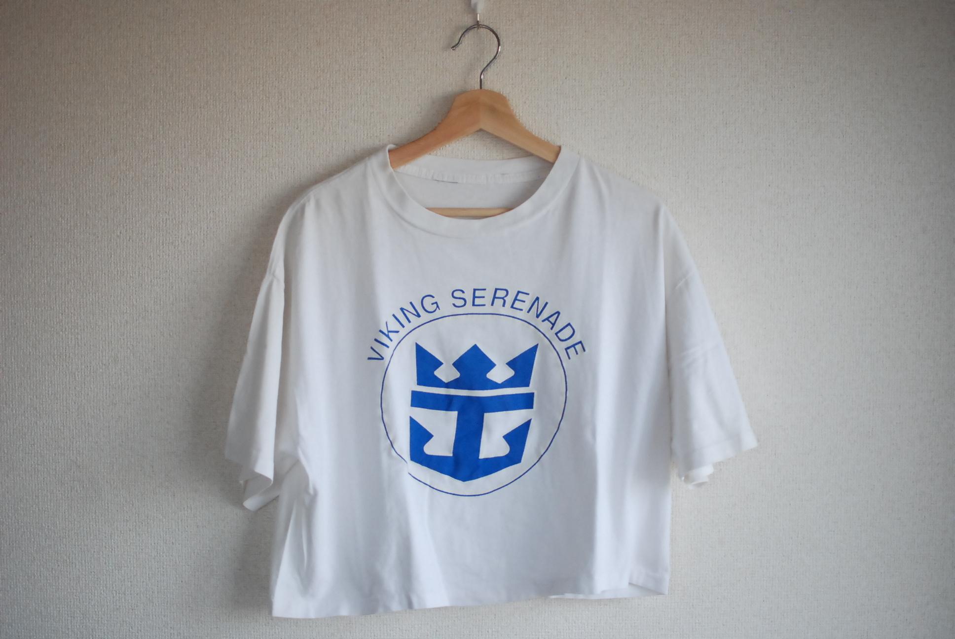 【WOMEN'S】USED 90's Crop T-shirt