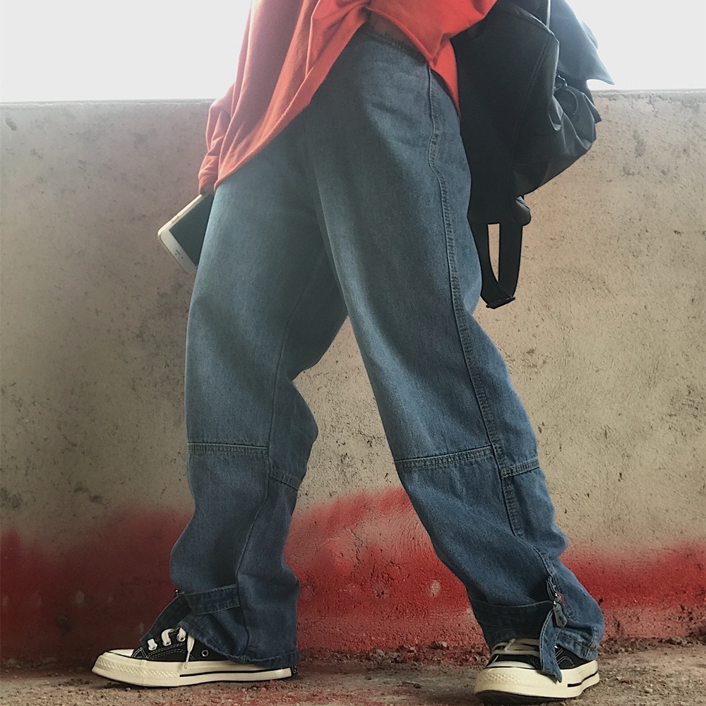 【bottoms】刺繍ファッション合わせやすいデニムパンツ22144992