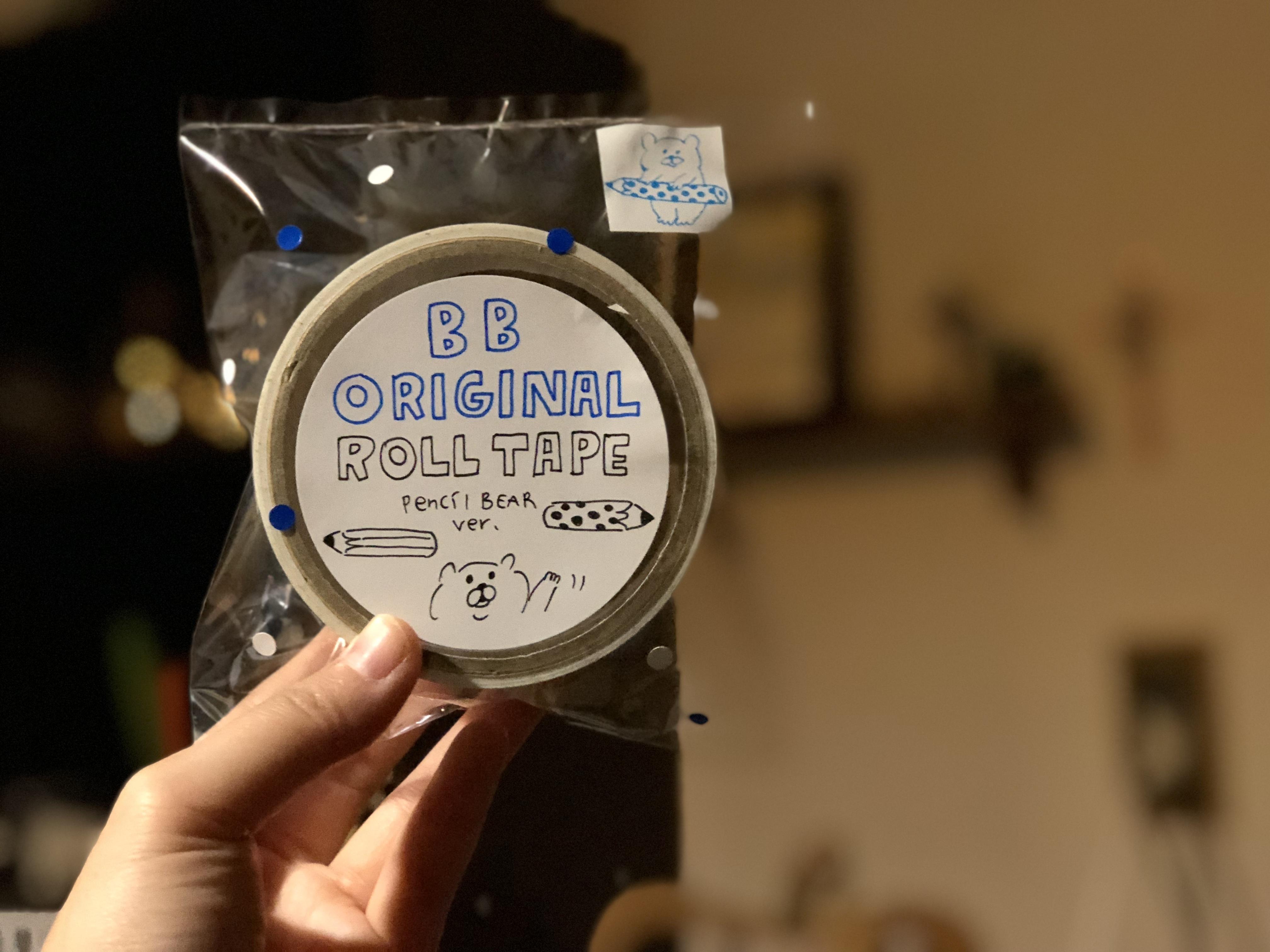 BBくま ロールテープ_透明