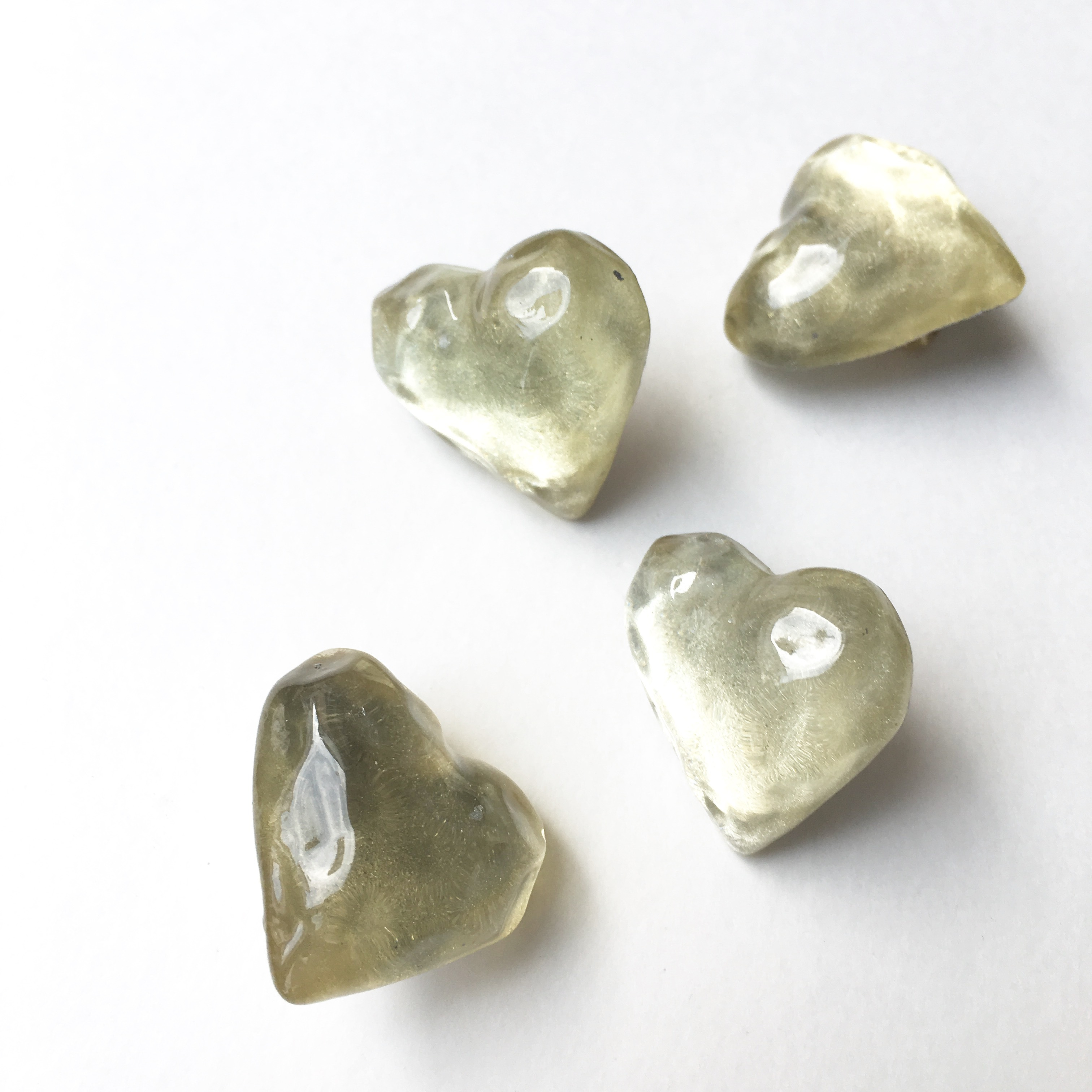Heart Candy Earring No.209 - シャイニーホワイト