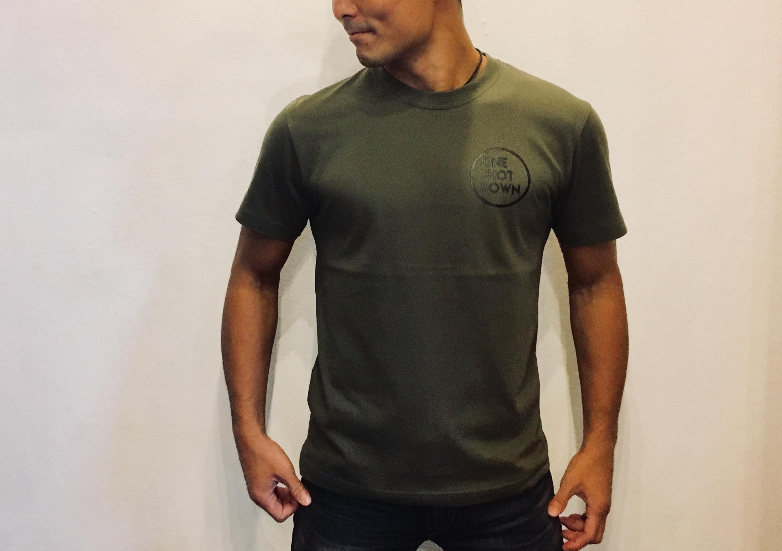 ONESHOTDOWN サークルロゴ Tシャツ - 画像5