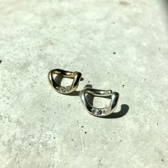 【LEF-06SV】Follow Ear cuff Diamond