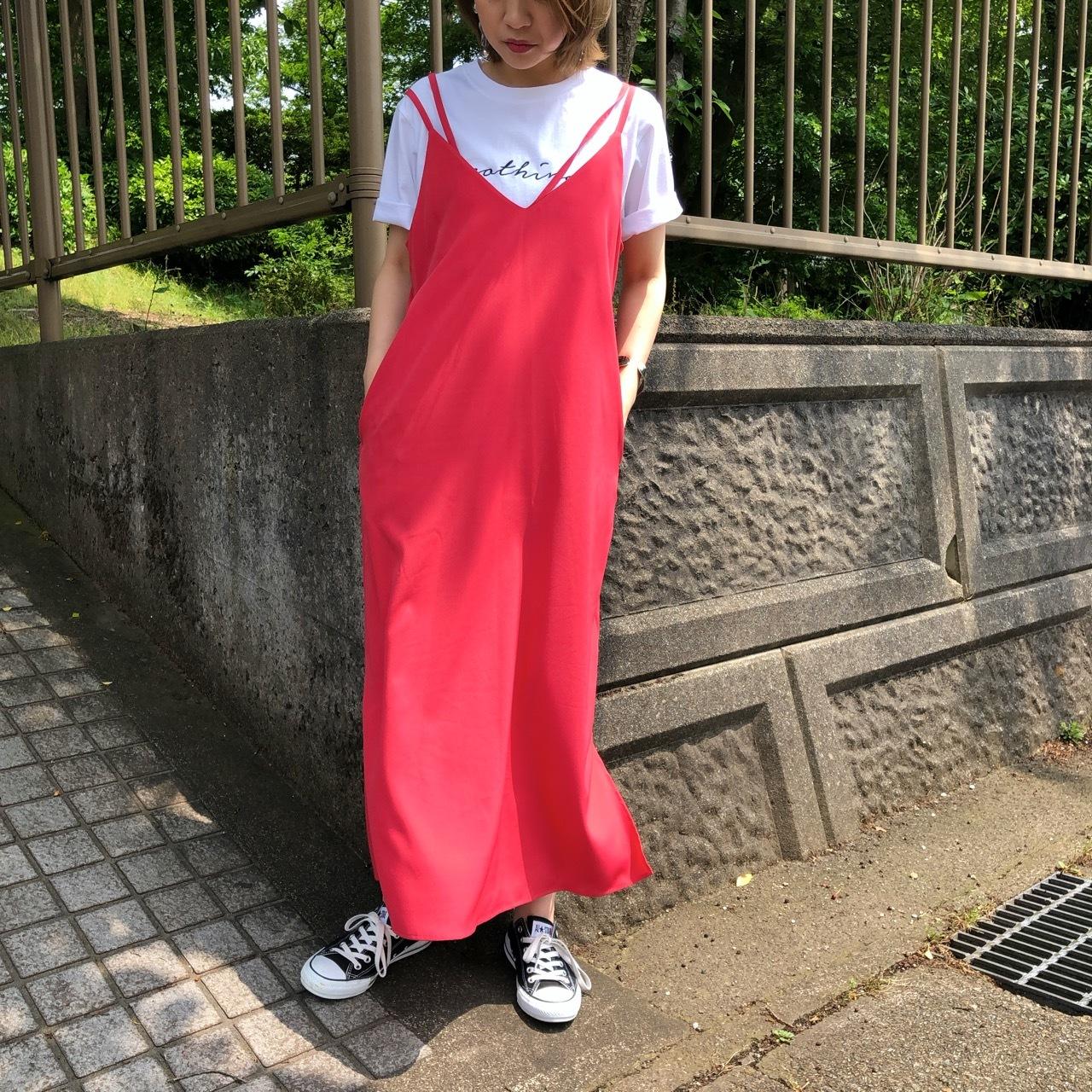 【 CHIGNONSTAR 】- 5201-382 - アシメストラップキャミワンピース
