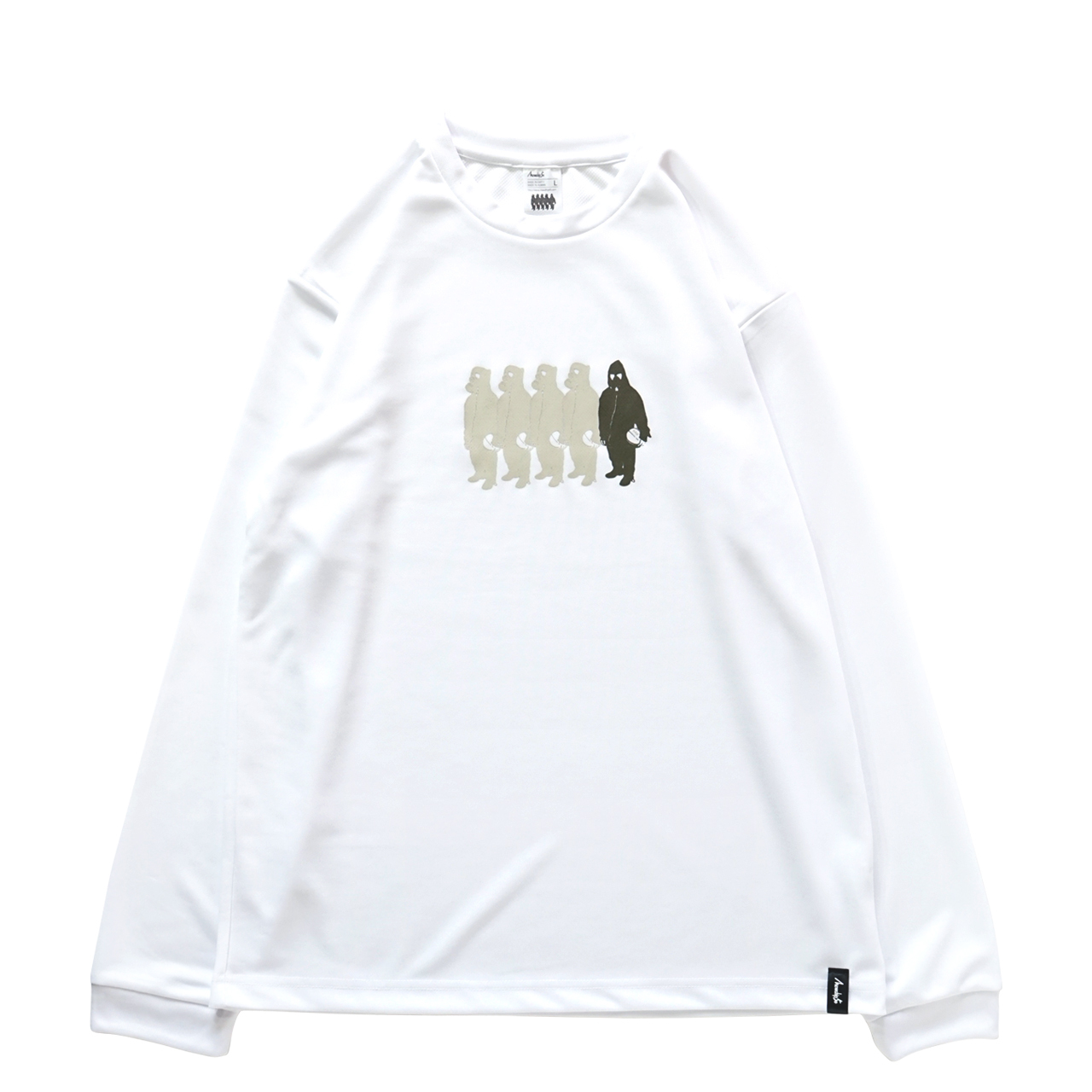 Little MICKYS 019  L/S PL <White×Beige×Khaki> - 画像1