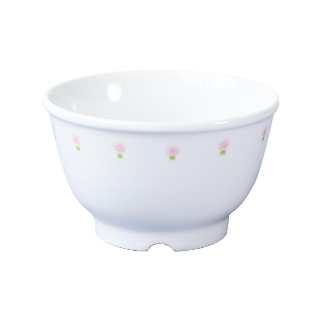 【1742-1060】強化磁器 10.5cm こども汁碗 花の冠(ピンク)