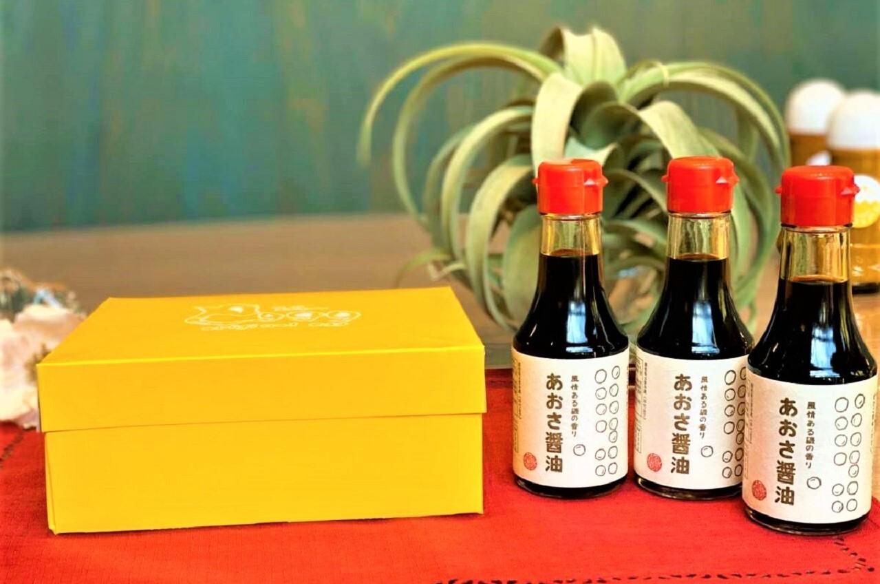 あおさ醤油(3本)