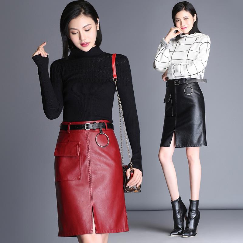 【ボトムス】ファッション無地ハイウエストスカート13818064
