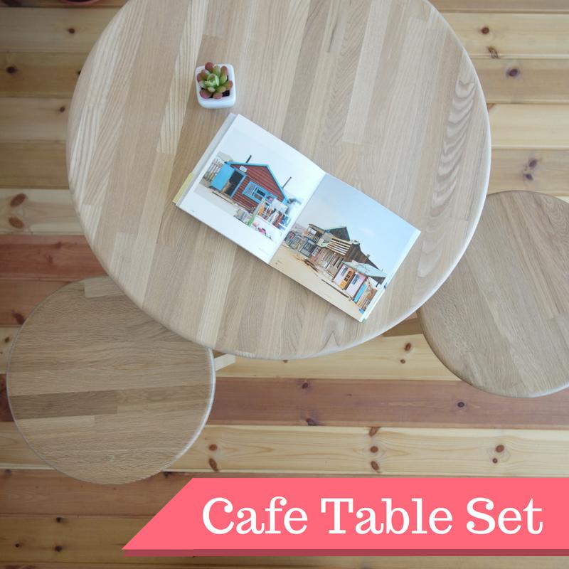 【カフェテーブル 3点セット】 テーブル×1 スツール×2 - 画像1