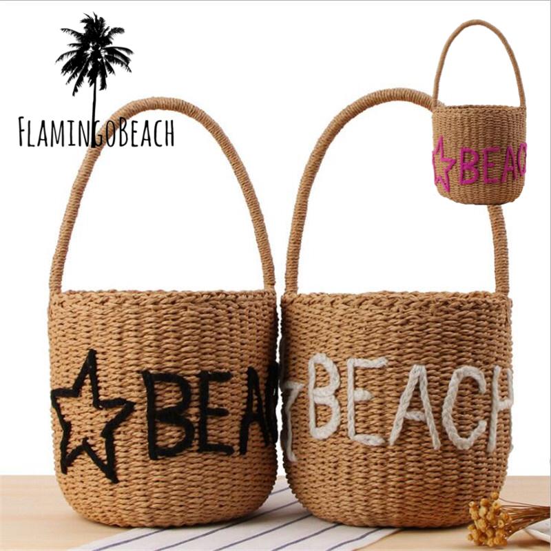 【FlamingoBeach】Beach bag カゴバック