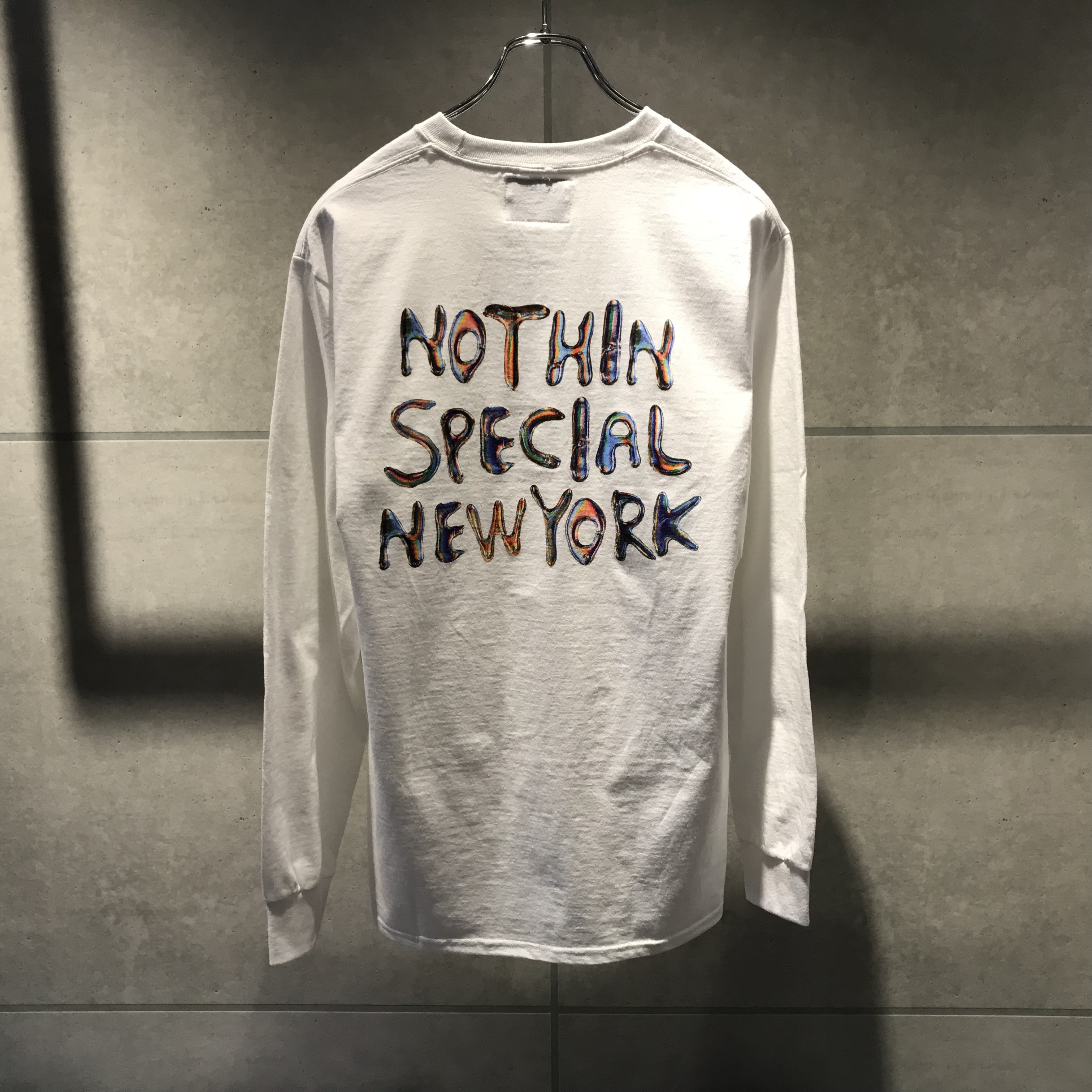 NOTHIN'SPECIAL LIQUID POCKET L/S TEE / WHITE