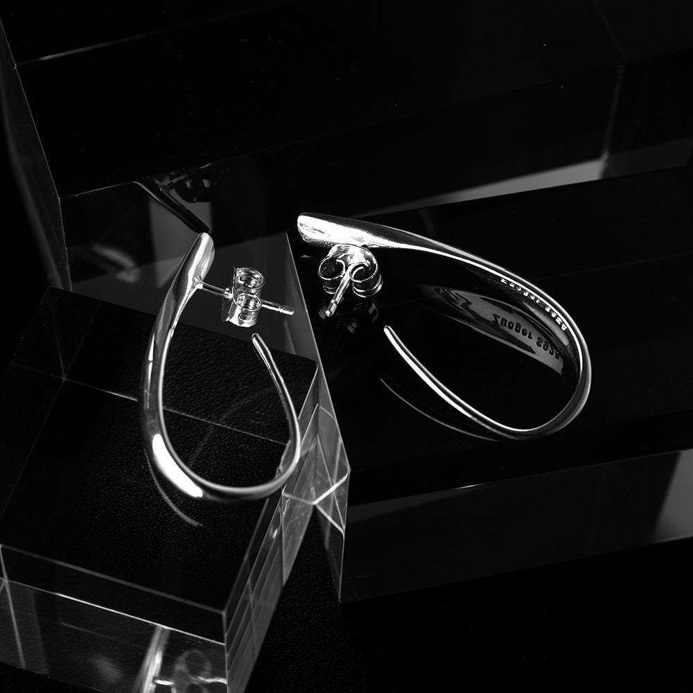 drop pierce silver 925