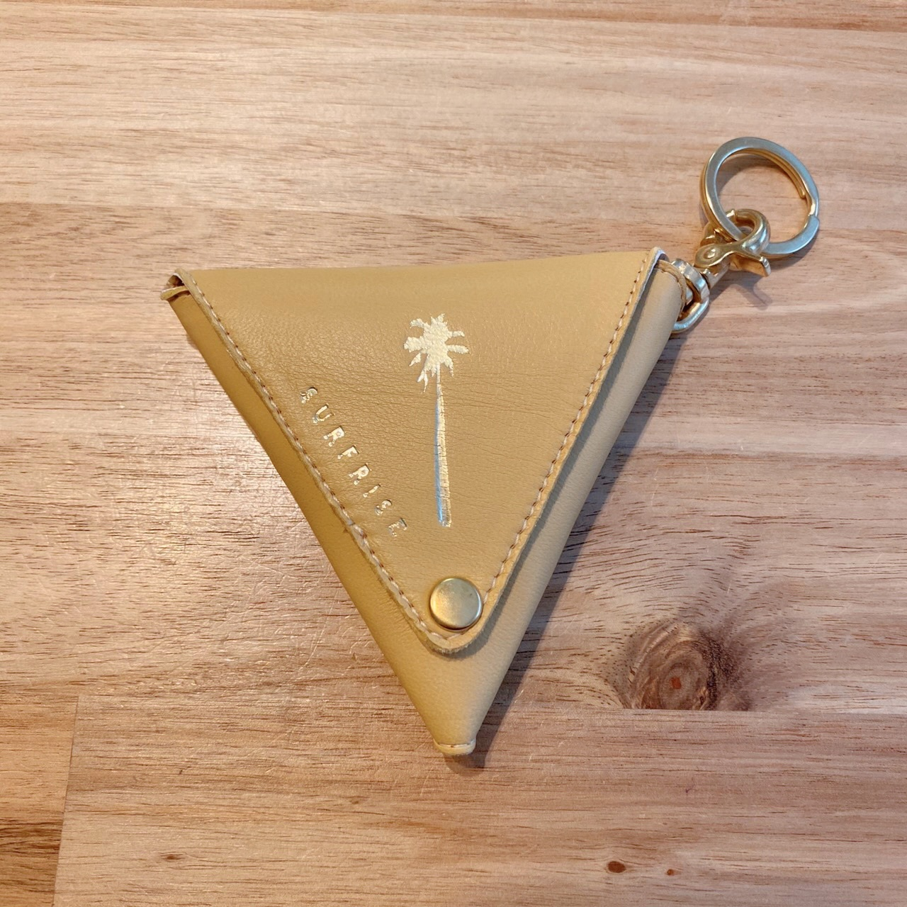 Triangle coin case - Misted Yellow