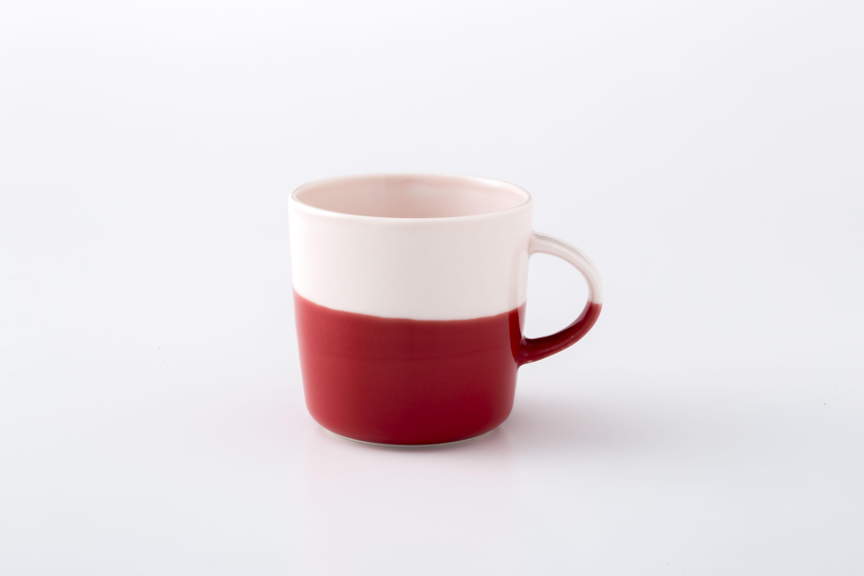 マグカップ:M (ピンク×赤) / 前野達郎