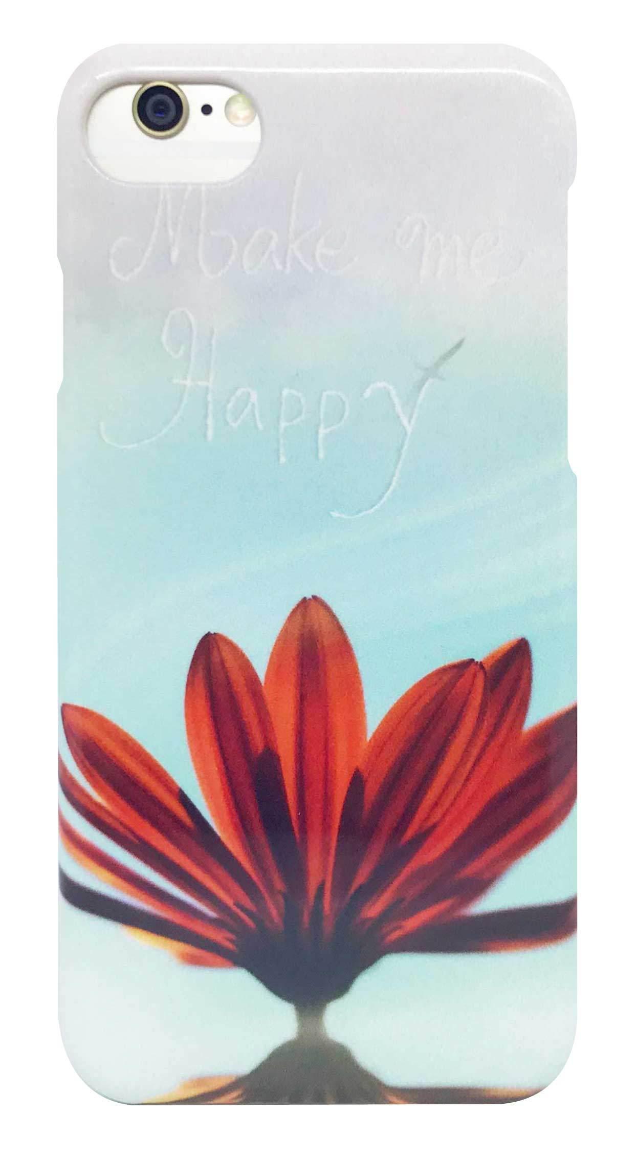 花 柄 「make me happy」 つや有り ハード ケース