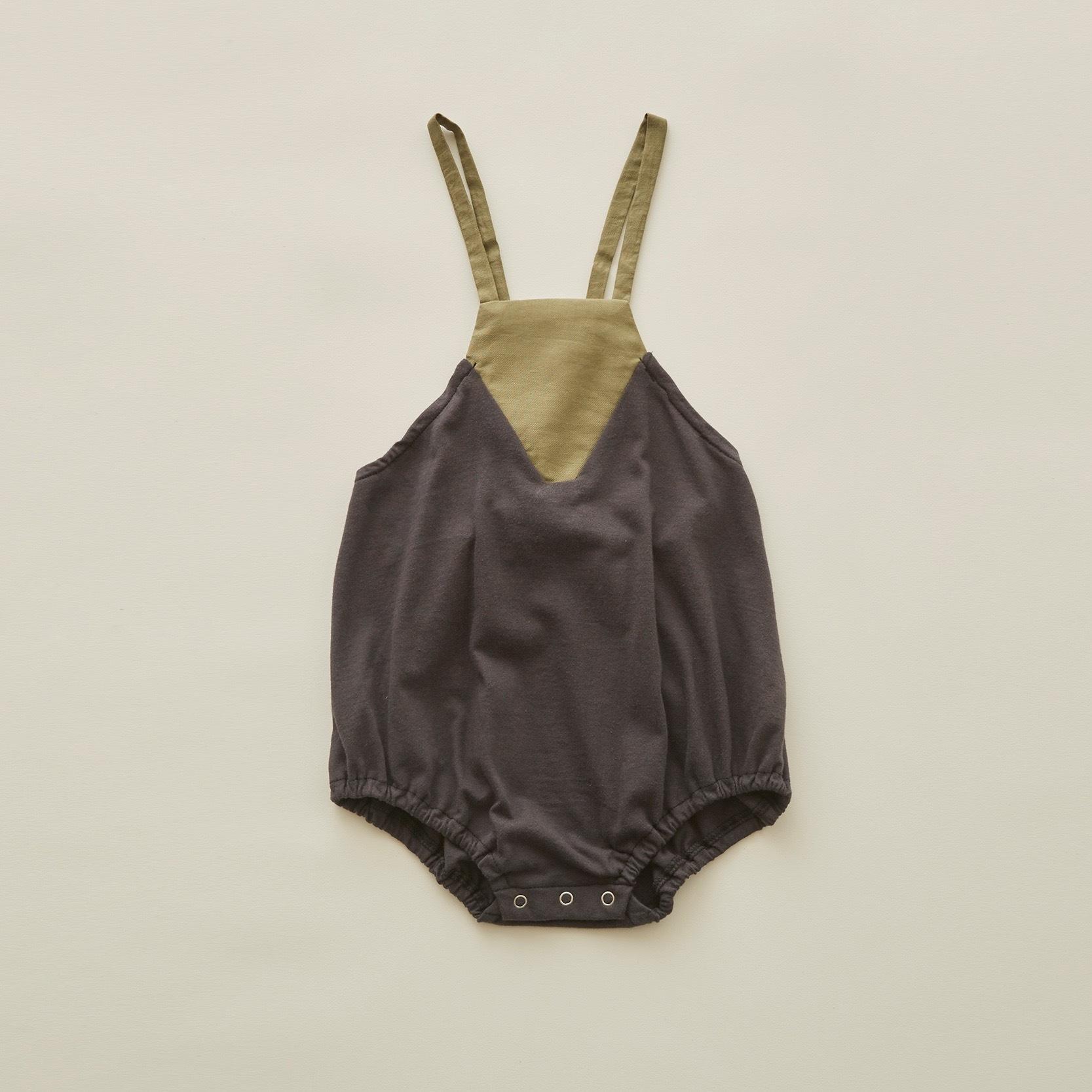 《eLfinFolk 2020SS》Maghreb baby bodyall / charcoal