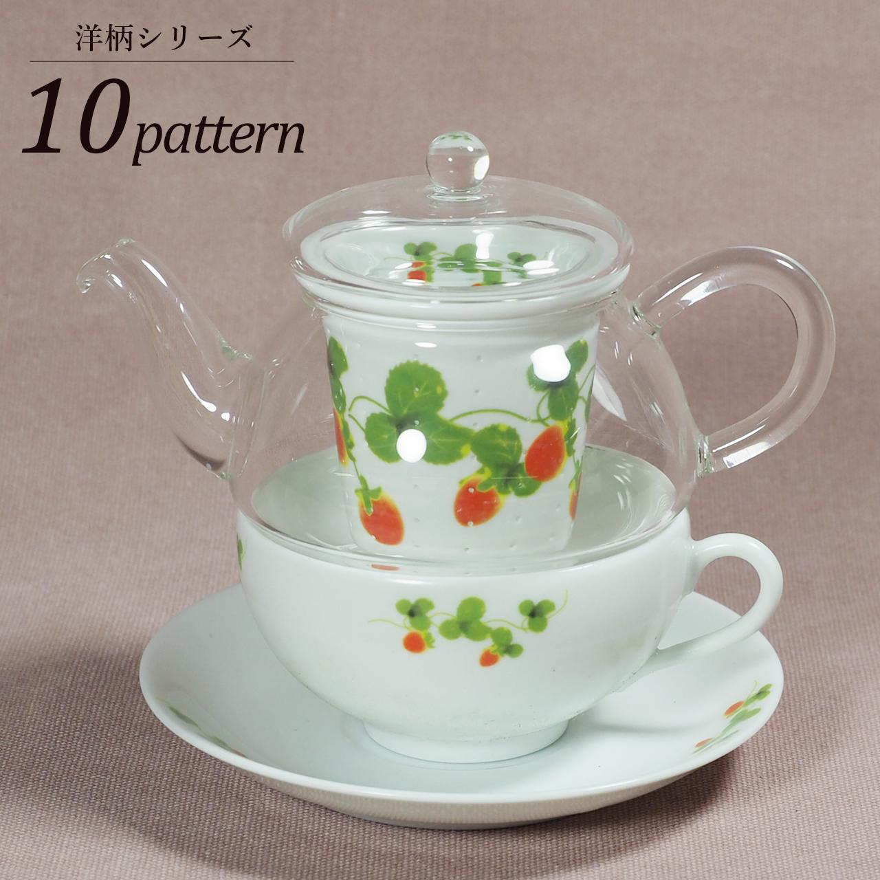 ティーフォーワン TFO-003(磁器カップ&ソーサー付) 洋柄シリーズ 10-003-B