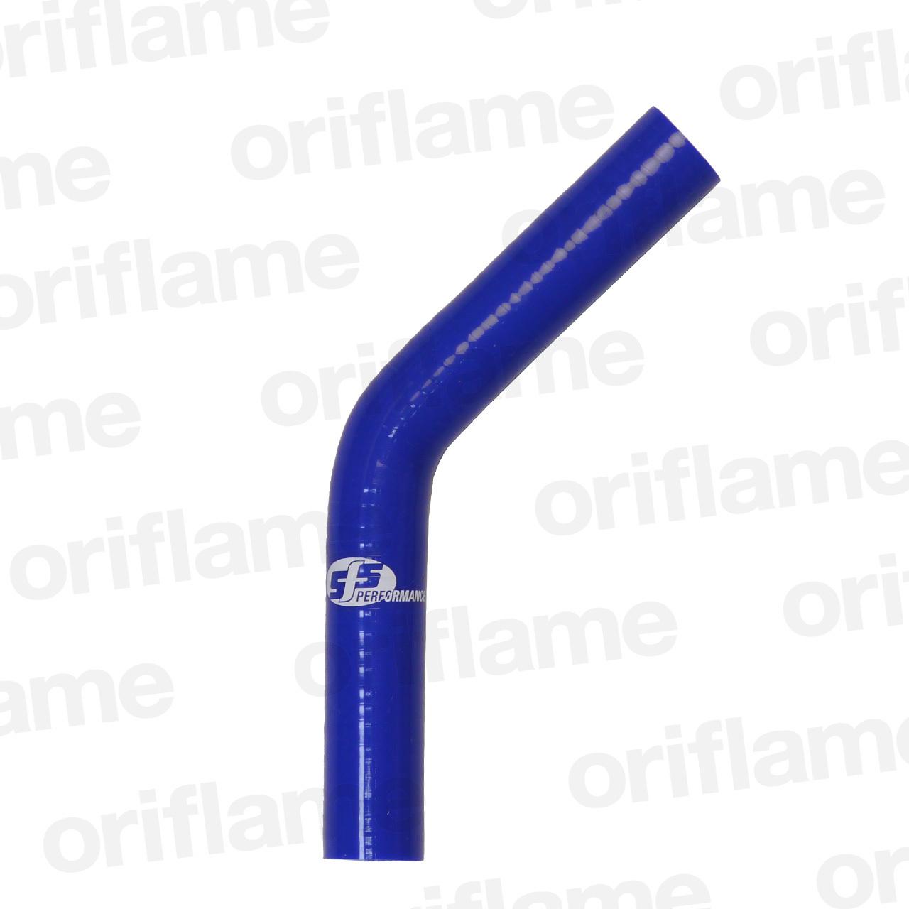 45度・エルボーホース・内径16mm・ブルー