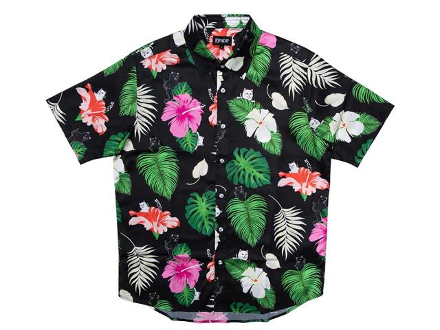 RIPNDIP|Maui Nerm Button Up (Black)