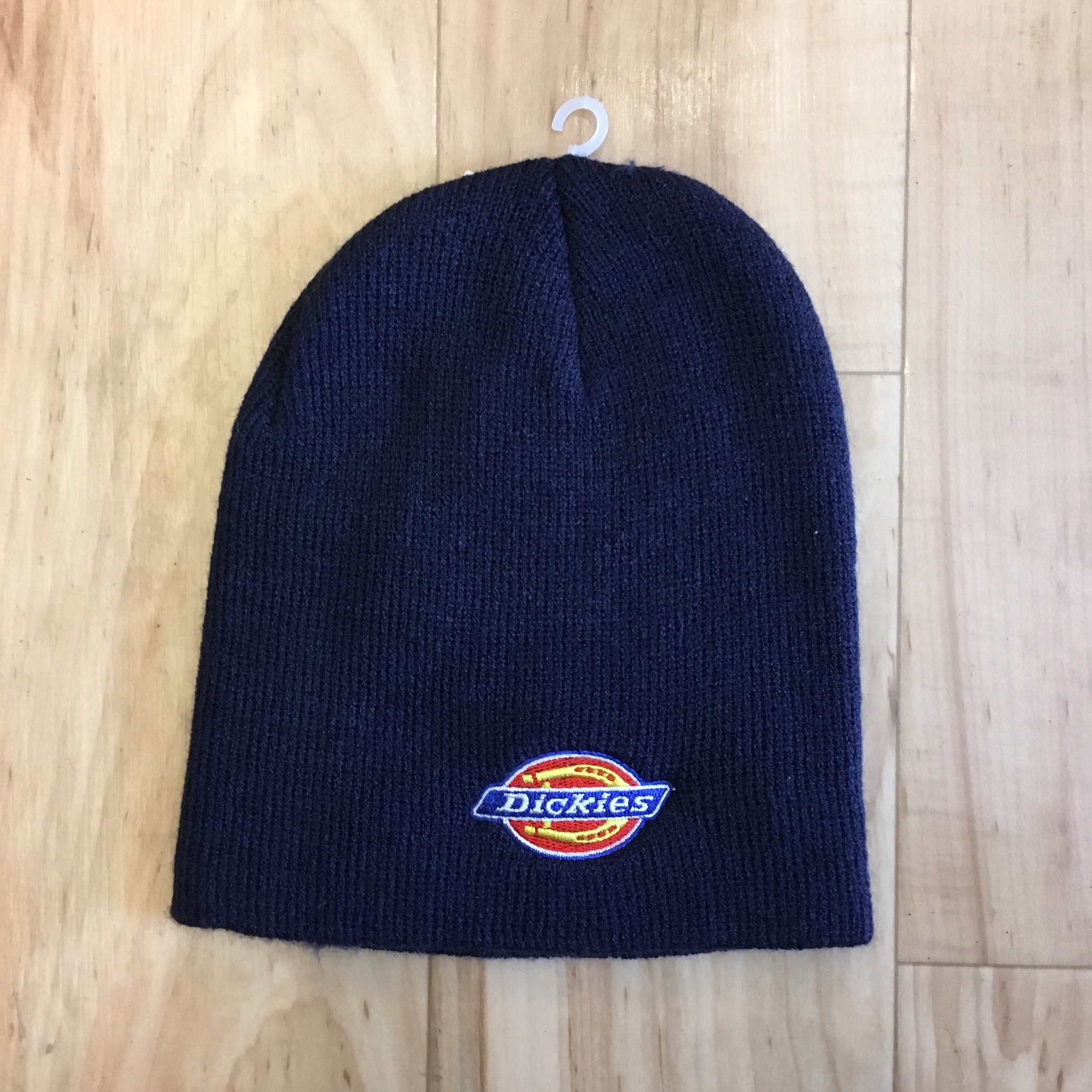 Dickies LOGO EMBROIDERY Beanie-NAVY <Deadstock>