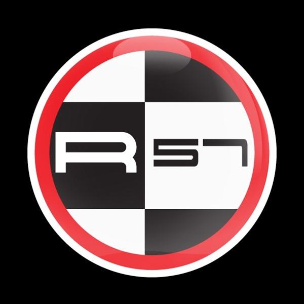 ゴーバッジ(ドーム)(CD0576 - MINI R57 RED) - 画像1