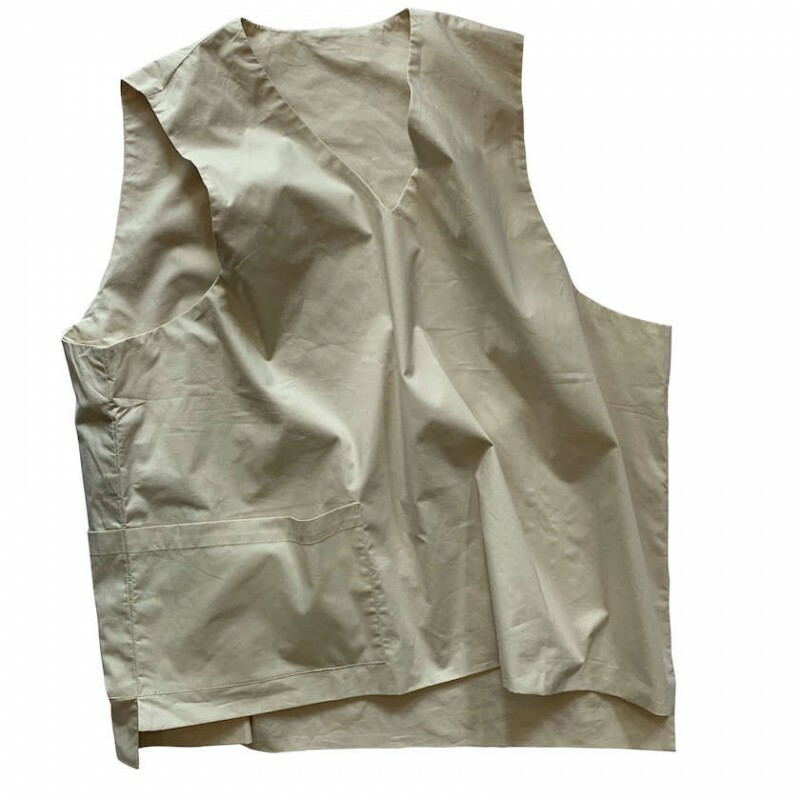 OVER VEST-A IVORY