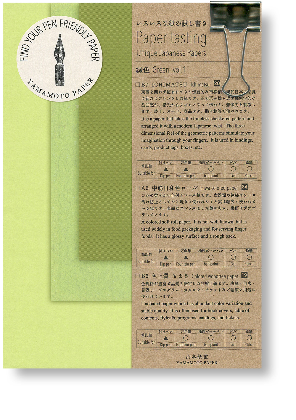 Paper tasting Green vol.1