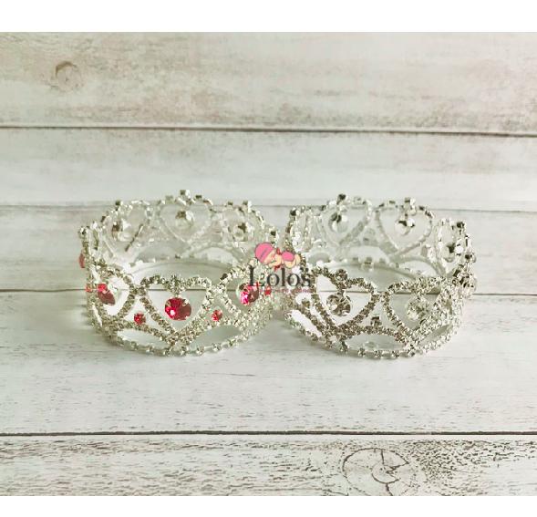 ミニプリンセスティアラ♡pink&silver
